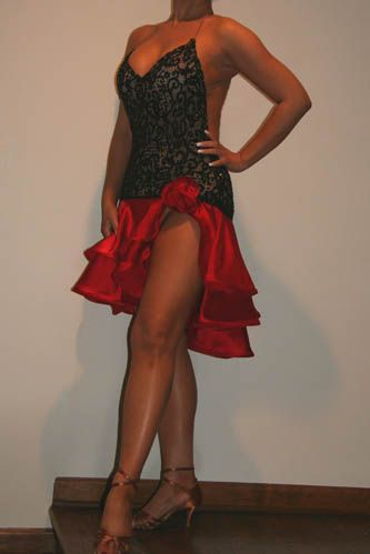 Black and Red Sexy Latin Rhythm Dress For Sale, Dance Costumes For Sale,  Dance