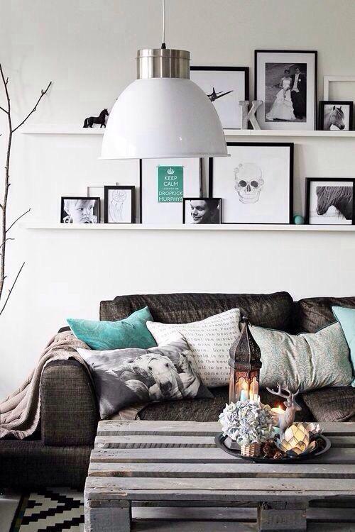 weiß - grau - türkis Wohnzimmer Pinterest Wicked, Squares and