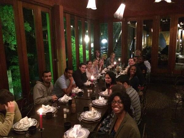 Our Penn State Smeal MBA students in Johannesburg are having a great time! Dinner at the Gourmet Garage - Global Immersion 2014