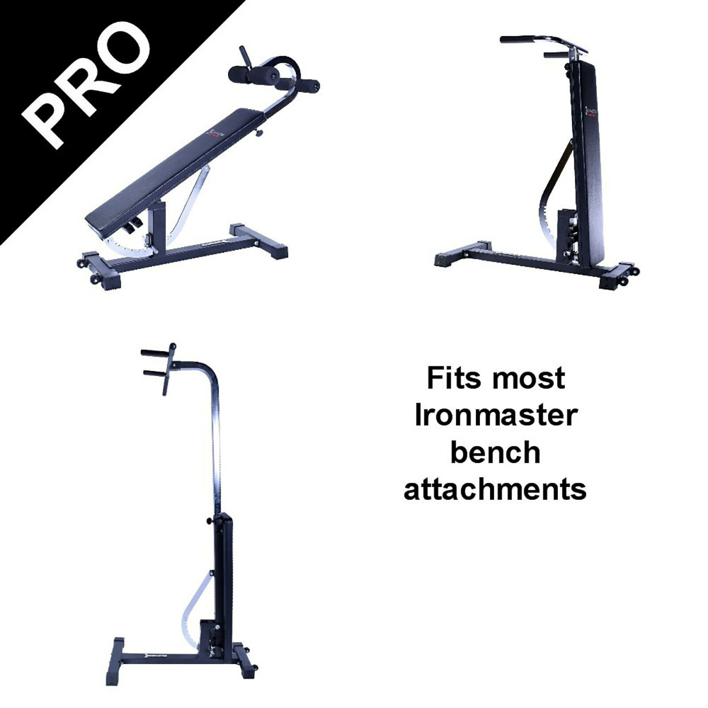 Ironmaster Super Bench Pro True Flat Adjustable Bench Rated For 450 Kgs Gym Ebay In 2020 Gym Weight Benches Super