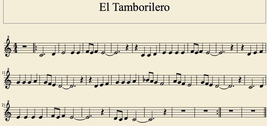 Eltamborilero Do M Eltamborilero Partituras Partituras Clarinete Cancionero Infantil