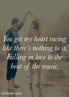 Brett Eldredge You Got My Heart Racing Like There S Nothing To It Falling In Love To The Bea Country Music Quotes Country Music Lyrics Country Song Quotes