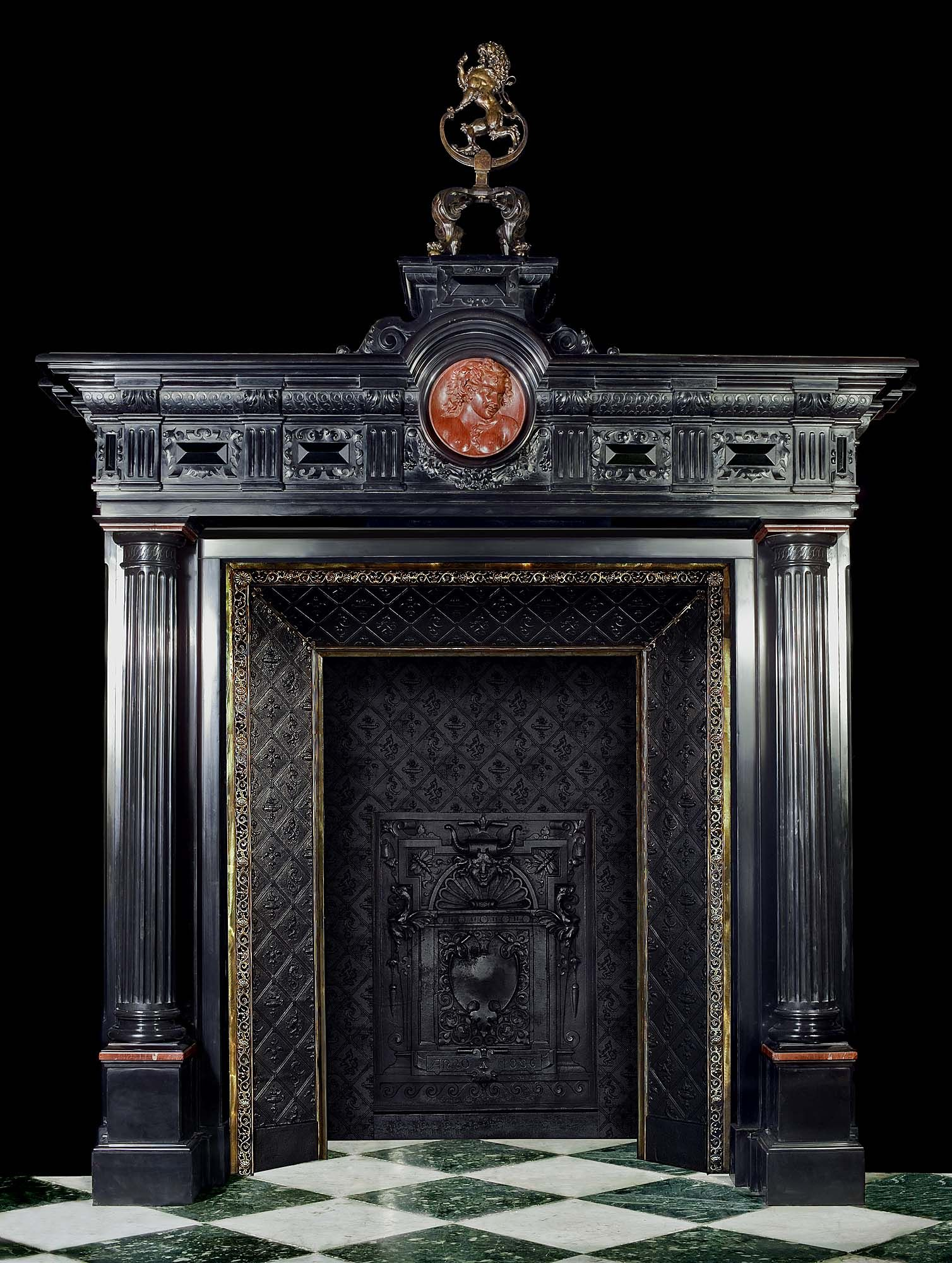 Sensational Antique Black Marble Italian Renaissance Fireplace Mantel Download Free Architecture Designs Boapuretrmadebymaigaardcom