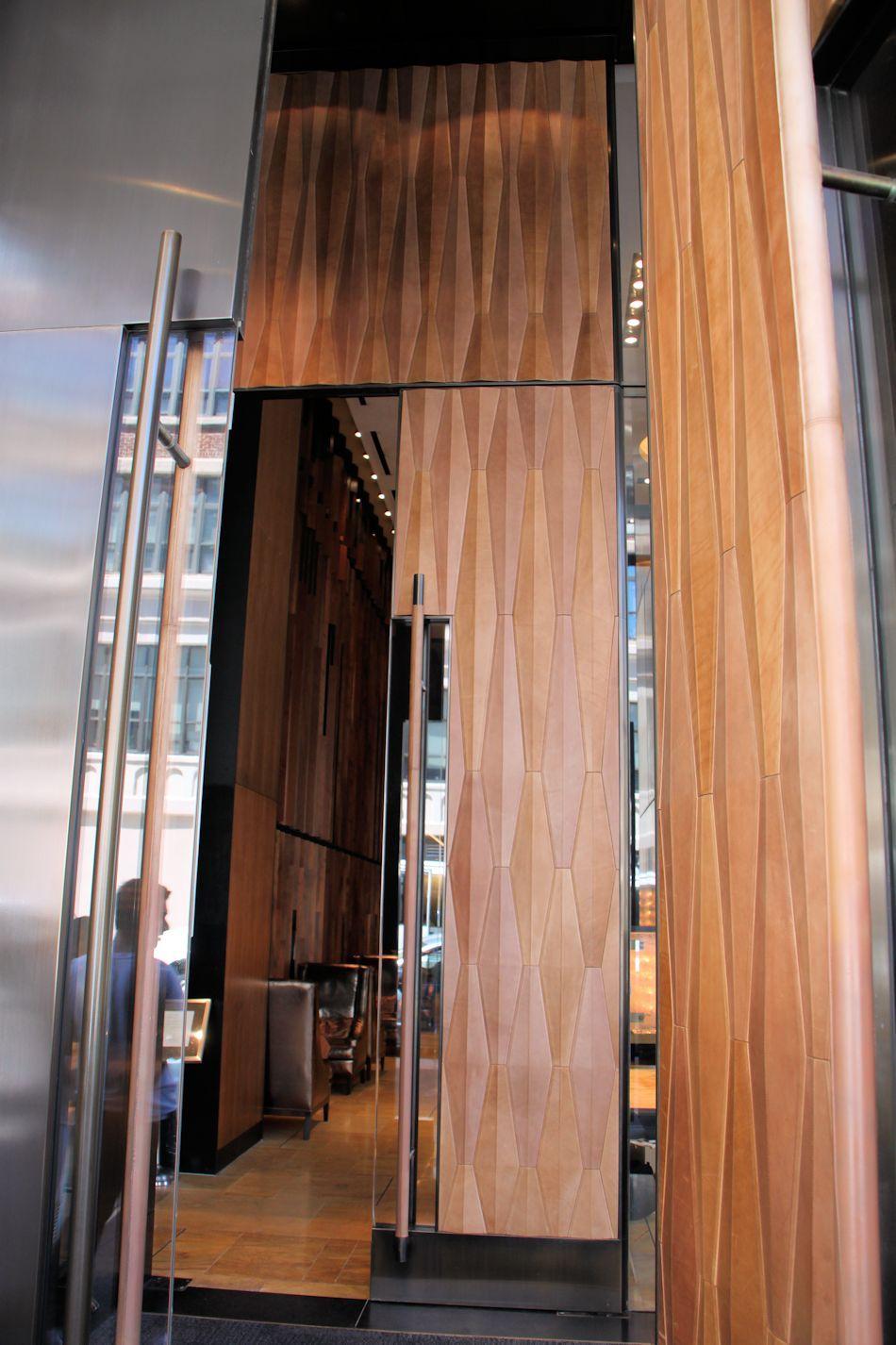 leather door - entrance to trump soho ( ?-? ?) & Trump Soho Entrance | ????? | Pinterest | Soho Doors and Door design