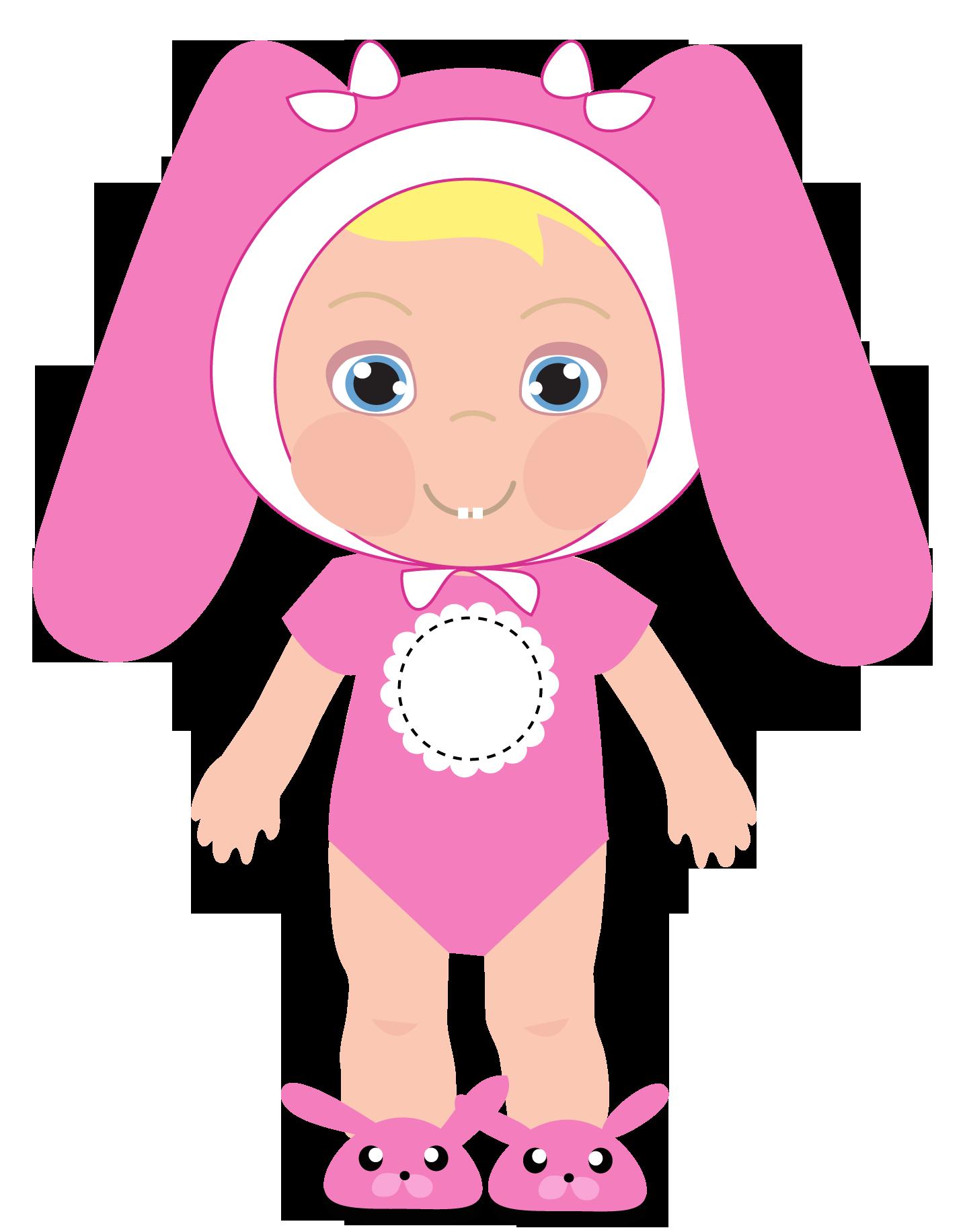 baby girl clip art cute baby rabbit girl pink clip art babies rh pinterest com Baby Girl Shower Clip Art Welcome Baby Girl Clip Art