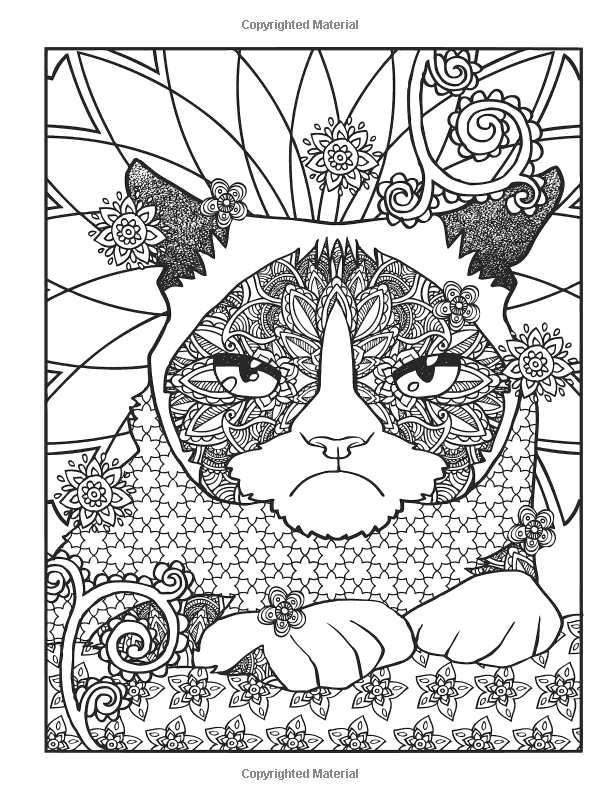 Pin On Adult Coloring Dog And Cat