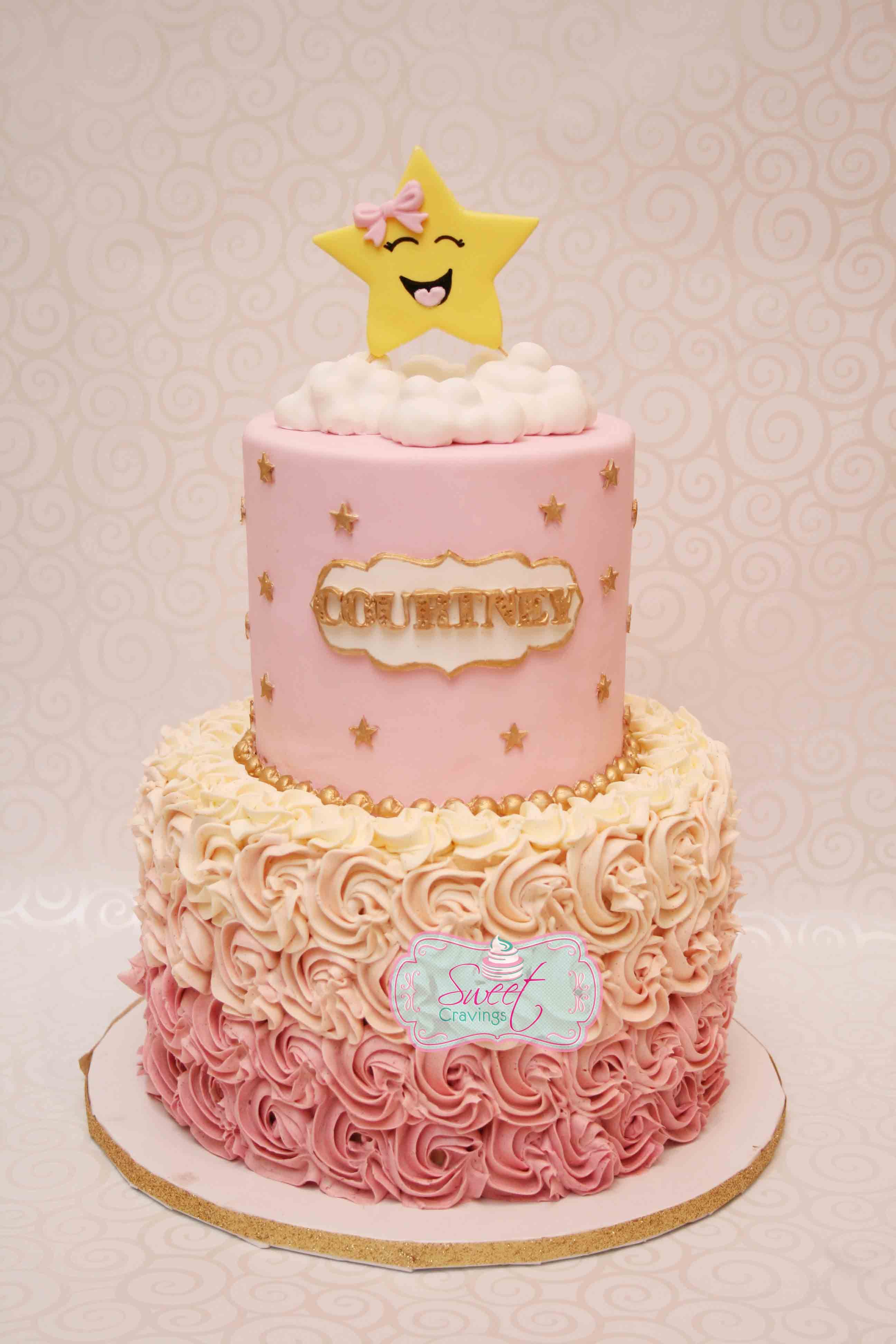 Gold And Pink Star Cake Twinkle Twinkle Little Star Http Www
