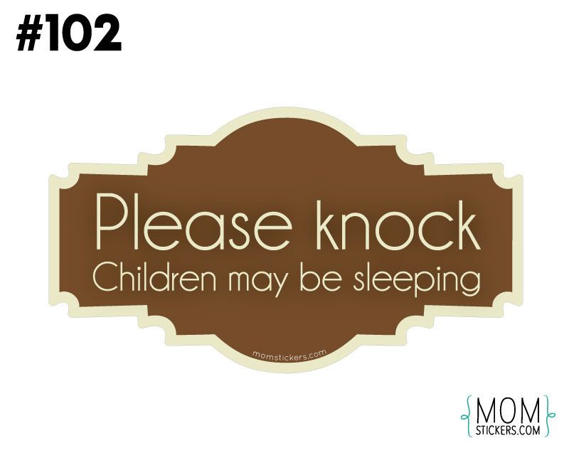 Don't Ring Doorbell Sticker