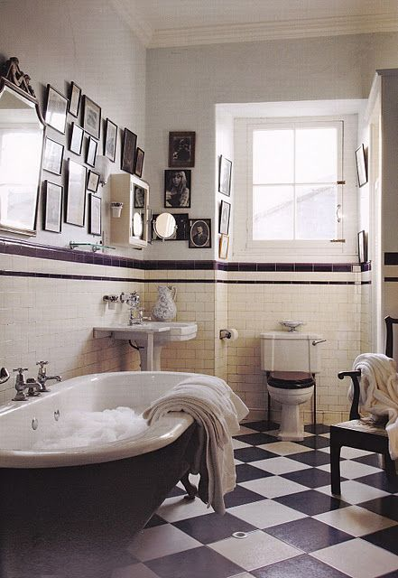 The Irish Country House Black White Bathrooms Bathroom