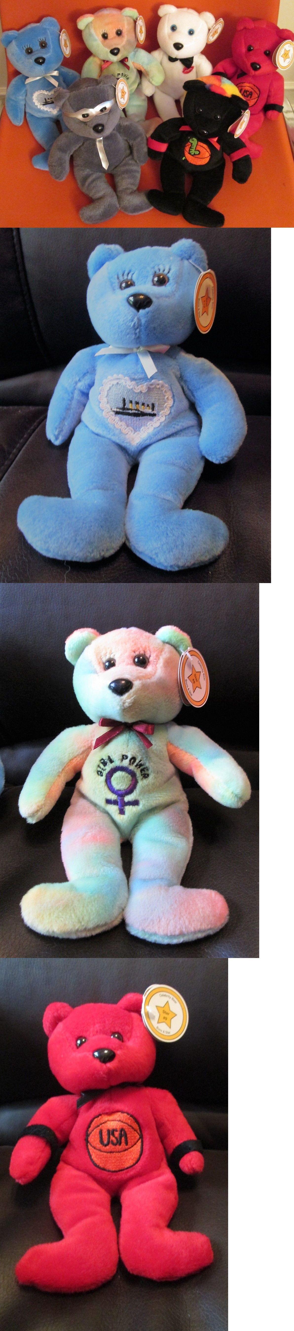 Celebrity Bears 49021 Lot Of 6 Celebrity Beanie Baby