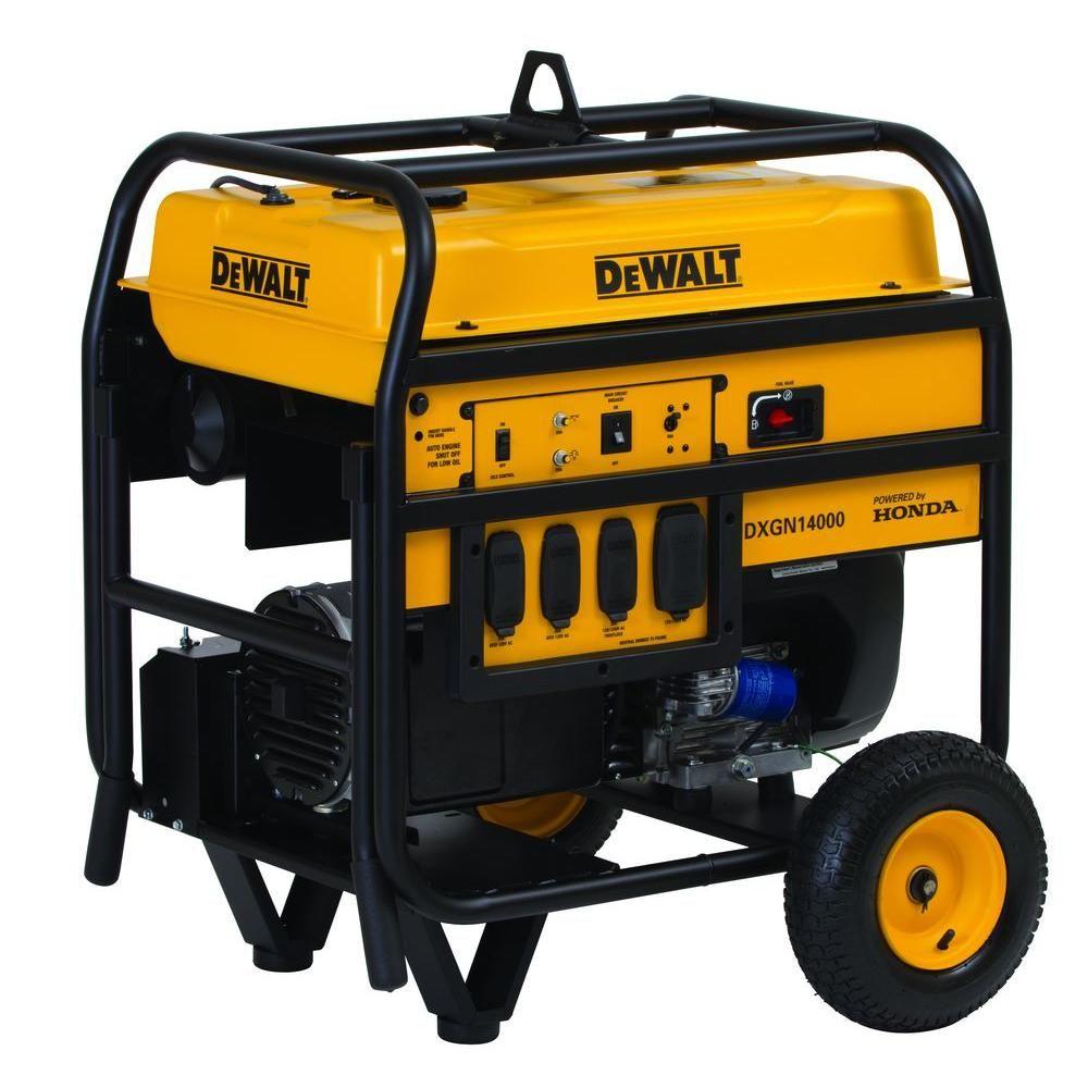 Dewalt 11700 Watt Gasoline Powered Electric Start Portable Generator With Honda Engine And Portability Kit In 2020 Portable Generator Dewalt Tools Tools