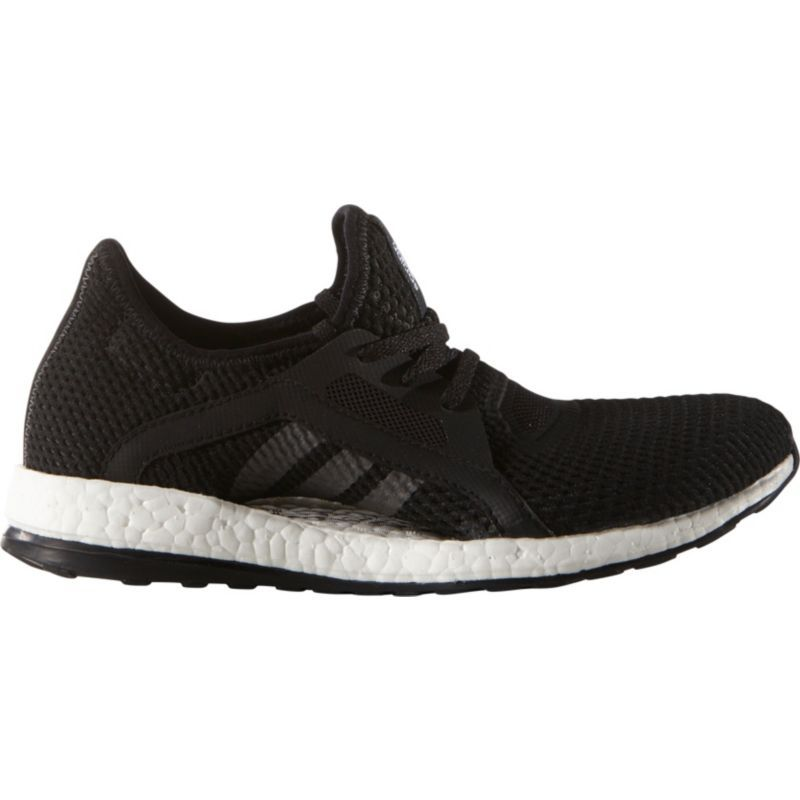 Classical Womens Running Shoes - Adidas Pure Boost X Core Black/Core Black/DGH Solid Grey