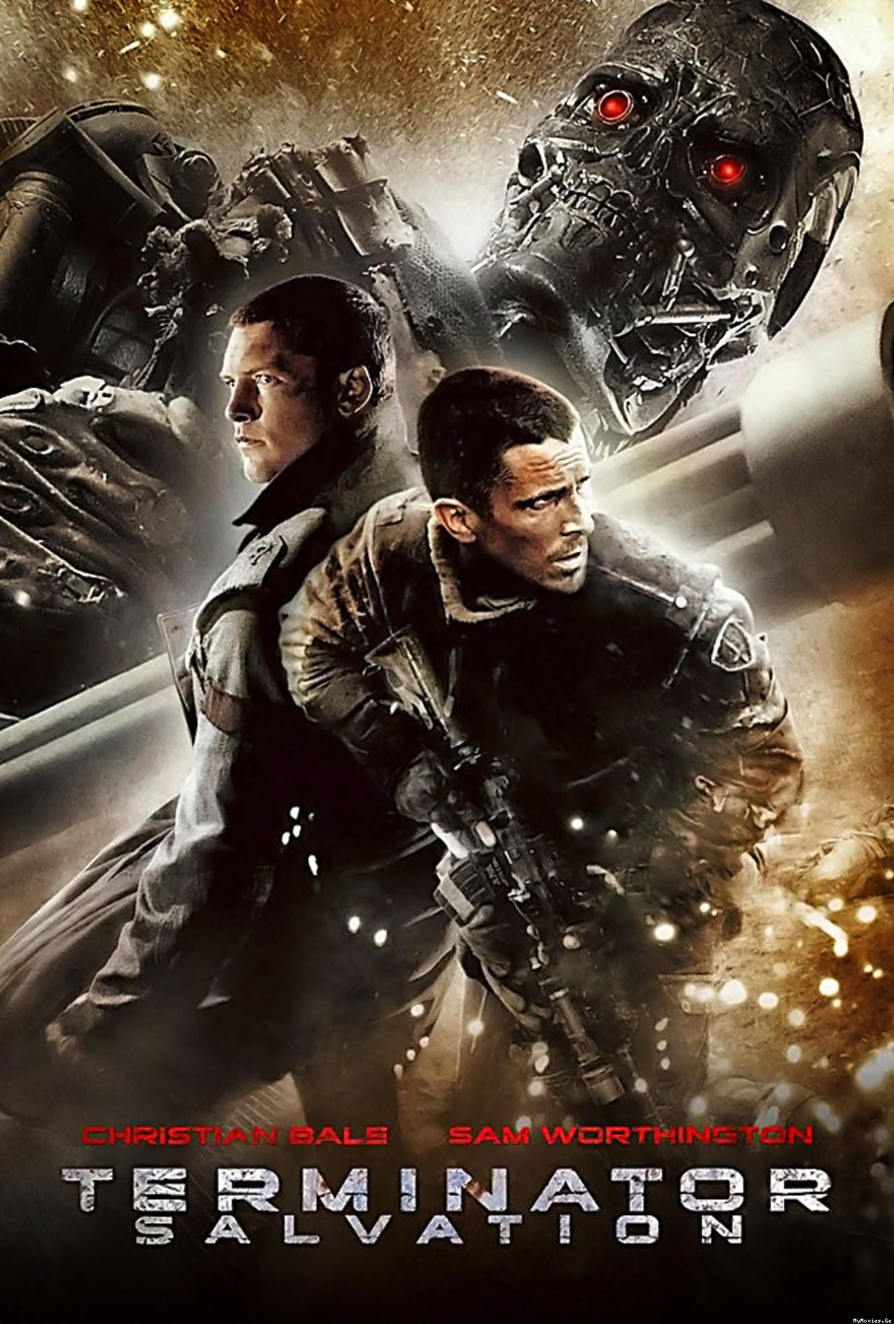 Terminator Salvation Fantascienza Azione Filmes Cartaz De