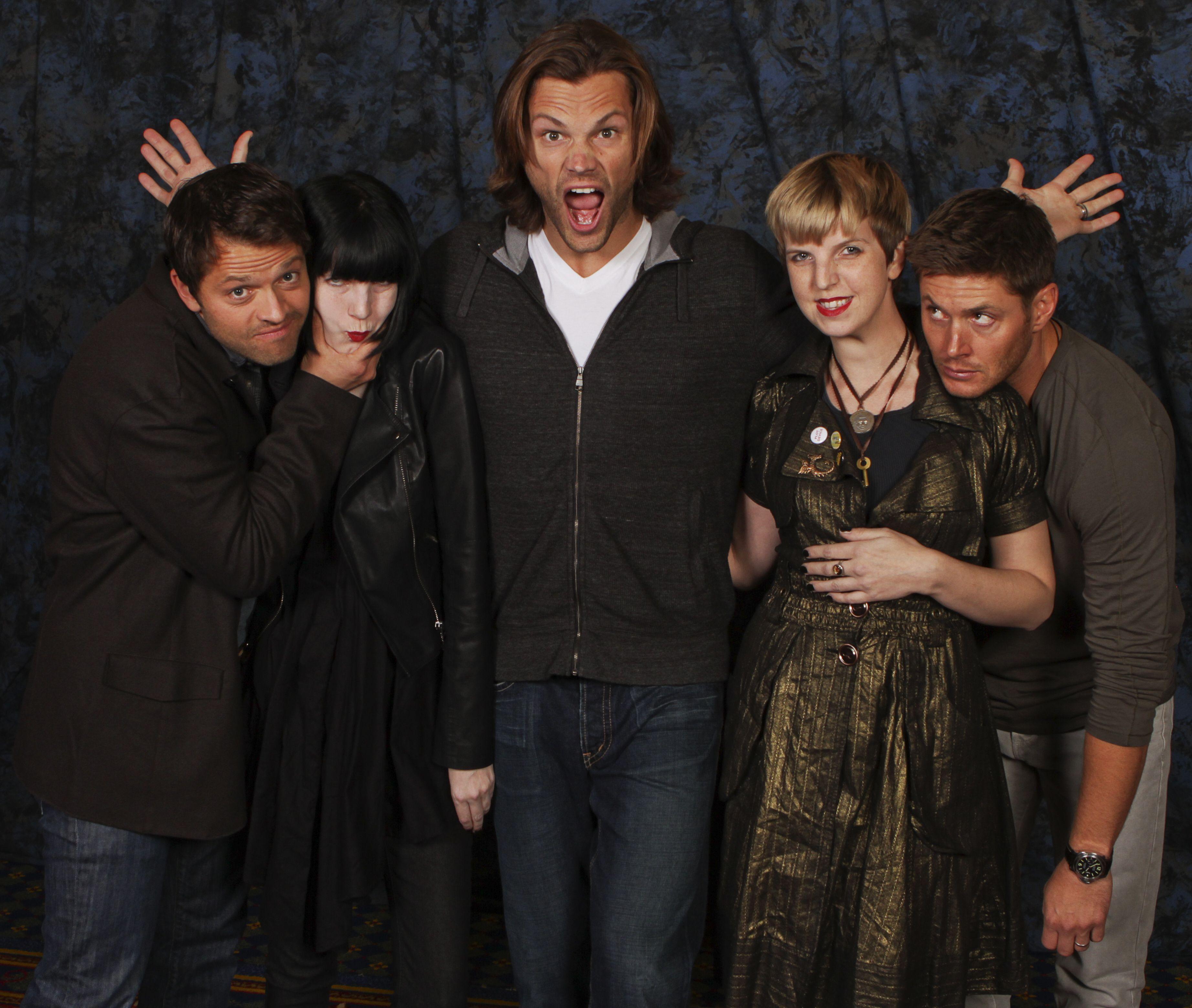 Photo op with Jared Padalecki, Jensen Ackles and Misha ...