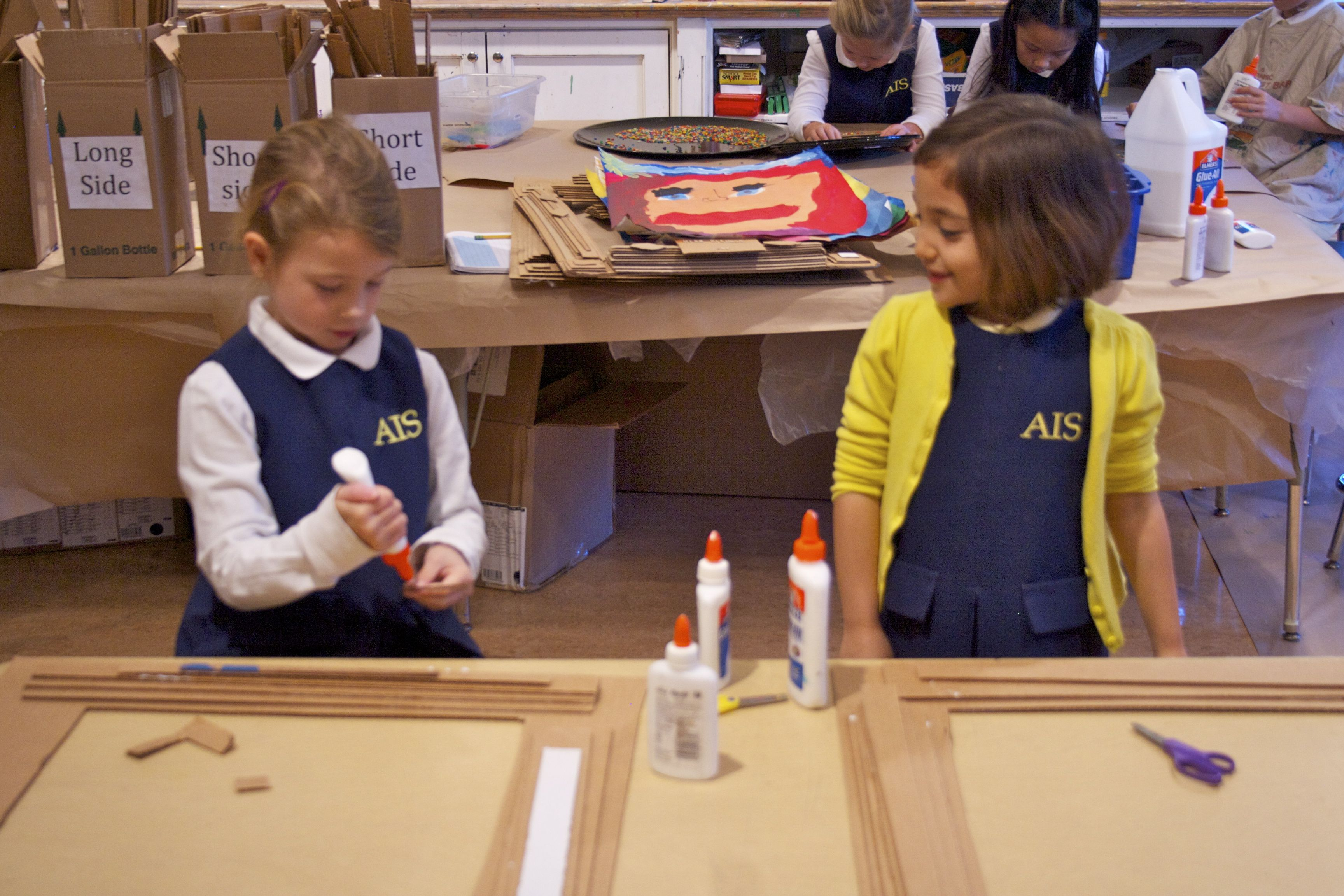 Our First Graders Are Constructing Their Frames For Their