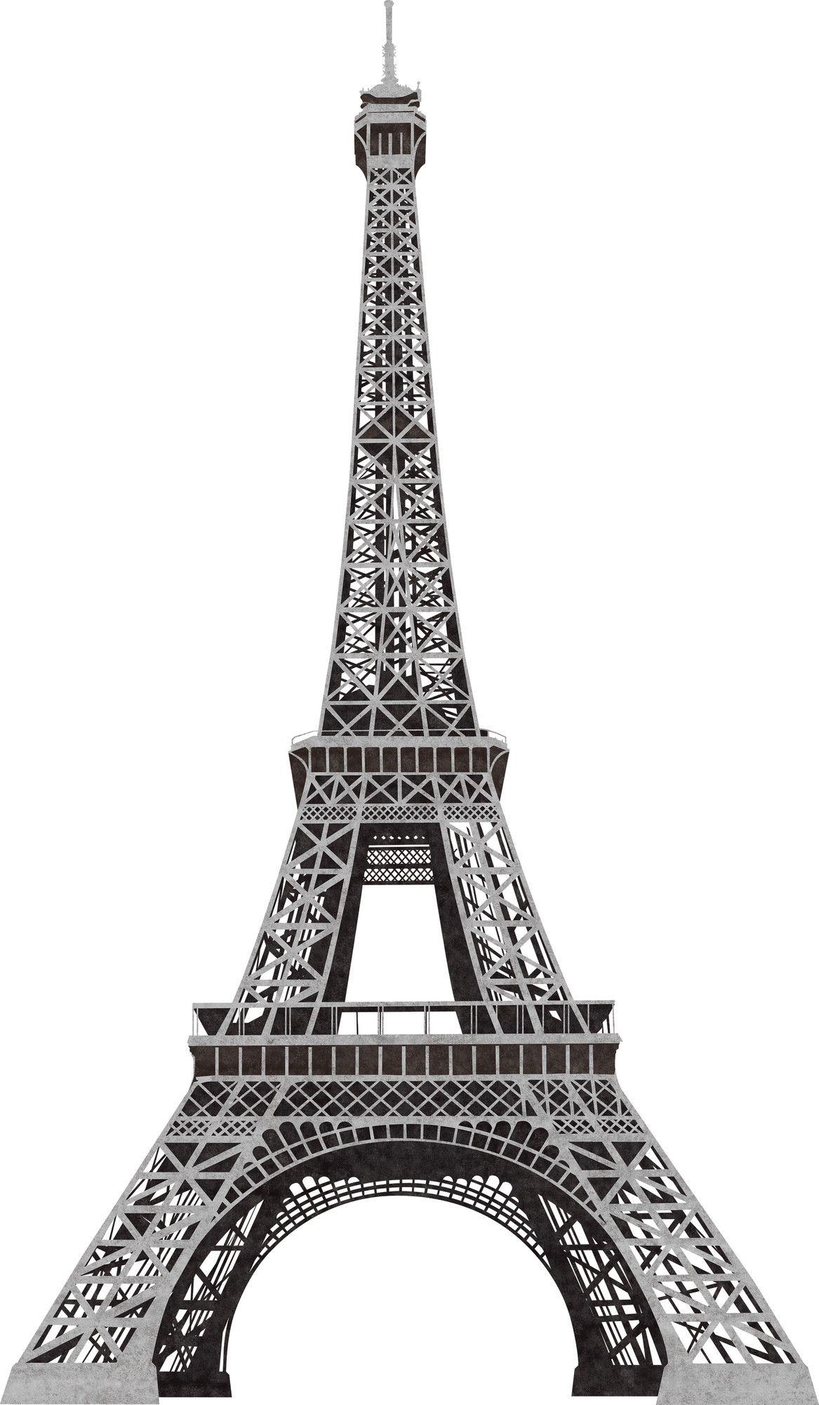 Deco 13 Piece Eiffel Tower Giant Wall Decal