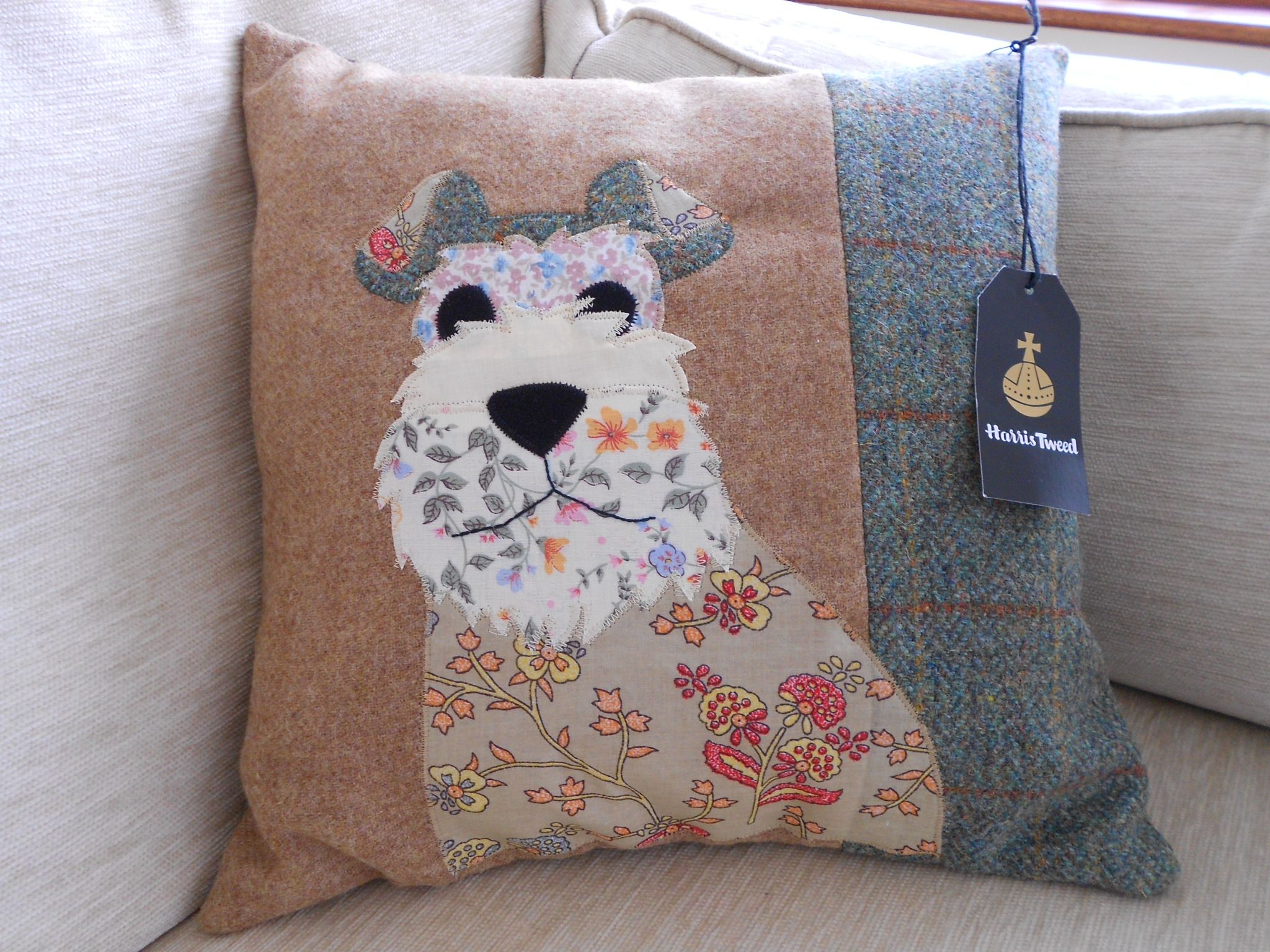 Applique dog cushion pattern from woman s weekly magazine i