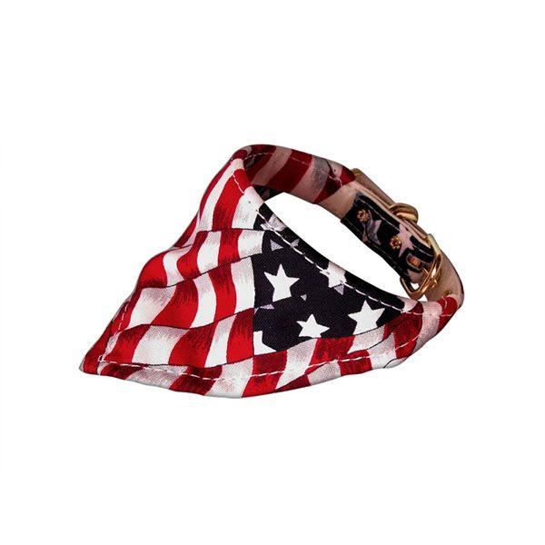 Bandana Dog Collar American Flag At Baxterboo Dog Collar Bandana Bandana Collars Puppy Bandana