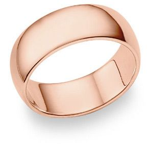 14K Rose Gold Comfort Fit Wedding Band Ring 8mm Jewelry 72500