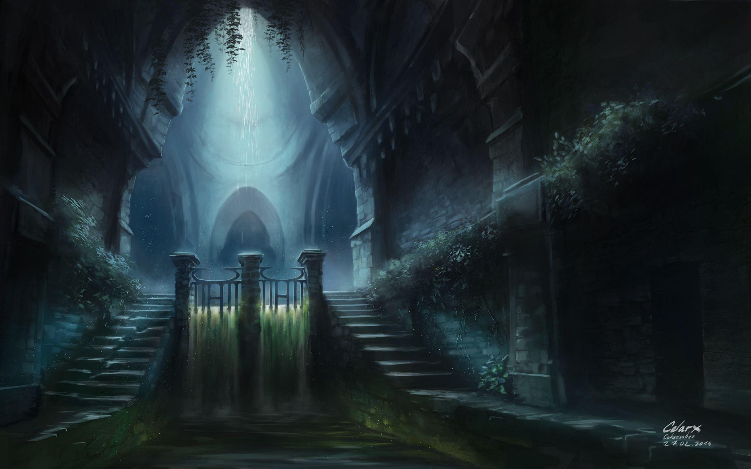 Flooded Catacombs by Celarx.deviantart.com on @DeviantArt ...
