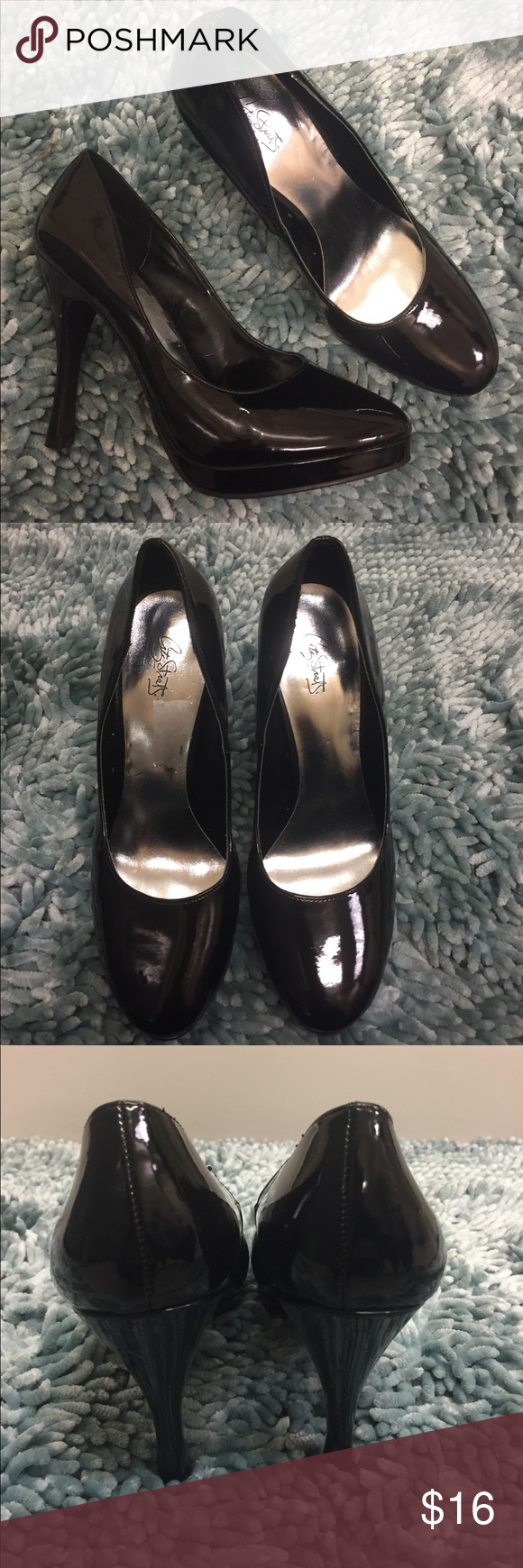 NWOT Classic black platform pumps w/ round toe These are a classic stiletto shoe meant to go with everything! They are a black pump or heel with a small platform to make them more comfortable! They have never been worn (only wear is from sitting in the closet!). They have a round toe and shiny black appearance. Offers welcome! City Streets Shoes Heels