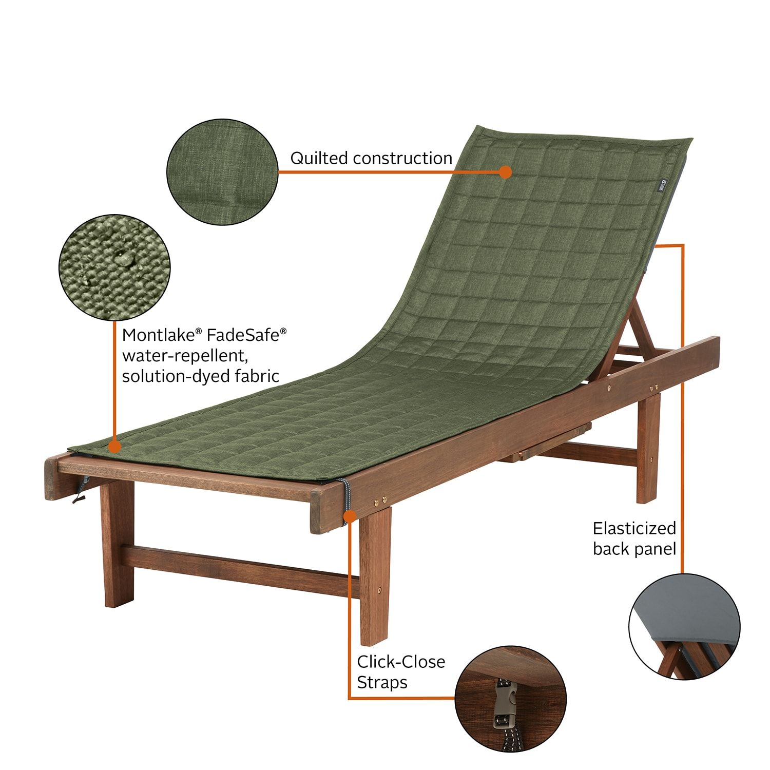 Classic Accessories Montlake Fadesafe Indoor Outdoor Patio Chaise Lounge Slipcover Chaise Lounge Slipcover Slipcovers For Chairs Outdoor Patio Chaise Lounge
