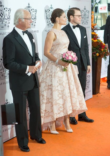 King Carl Gustaf of Sweden and Crown Princess Victoria of Sweden and Prince Daniel attend Polar Music Prize at Stockholm Concert Hall on August 26, 2014 in Stockholm