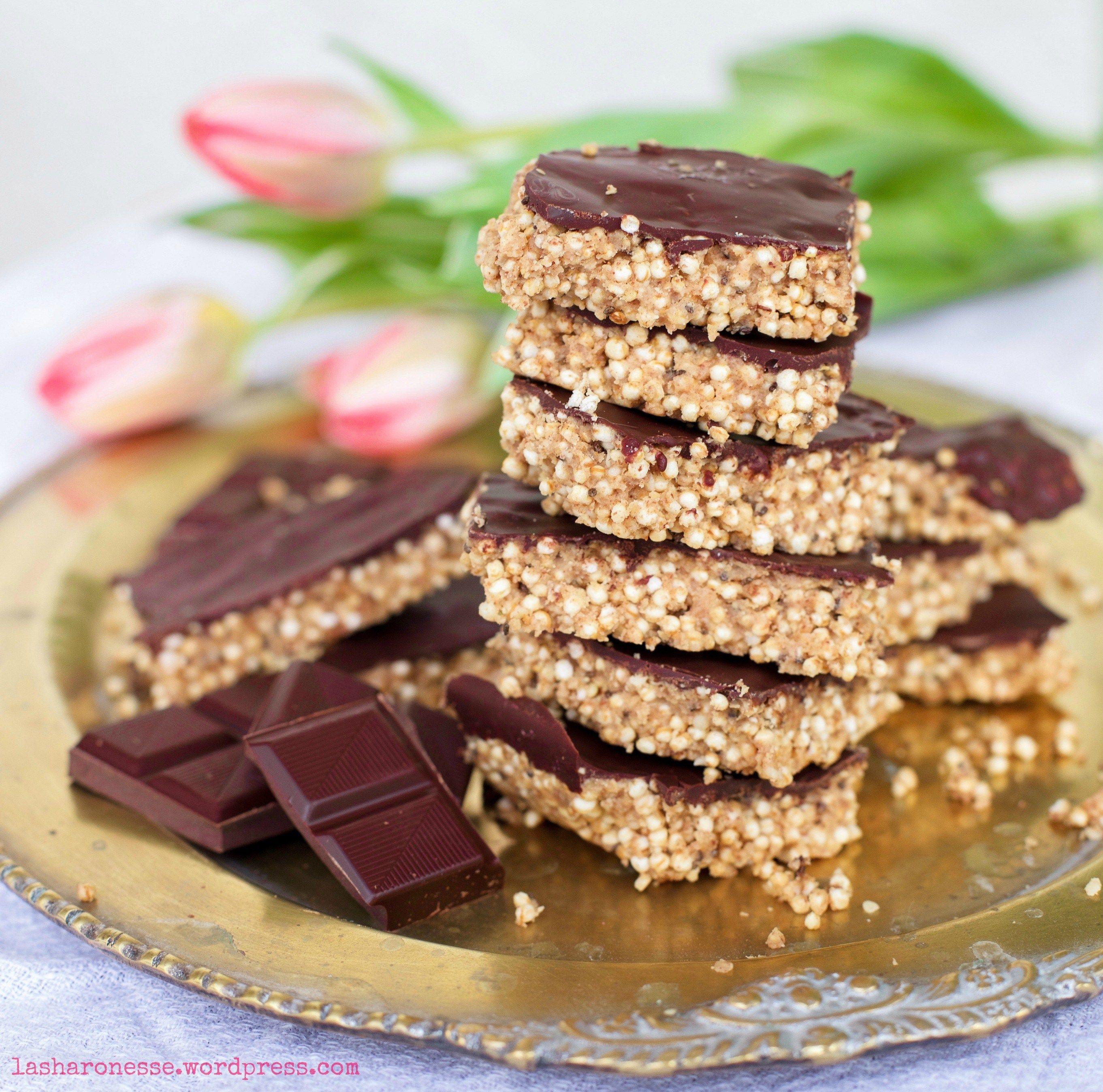 salzig s e erdnussbutter quinoa riegel mit schokolade. Black Bedroom Furniture Sets. Home Design Ideas