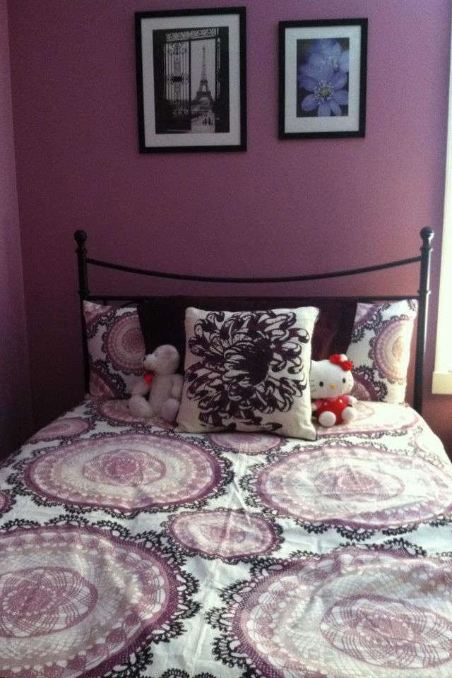 My Daughters Pretty Purple Bedroom With Ikea Bedding