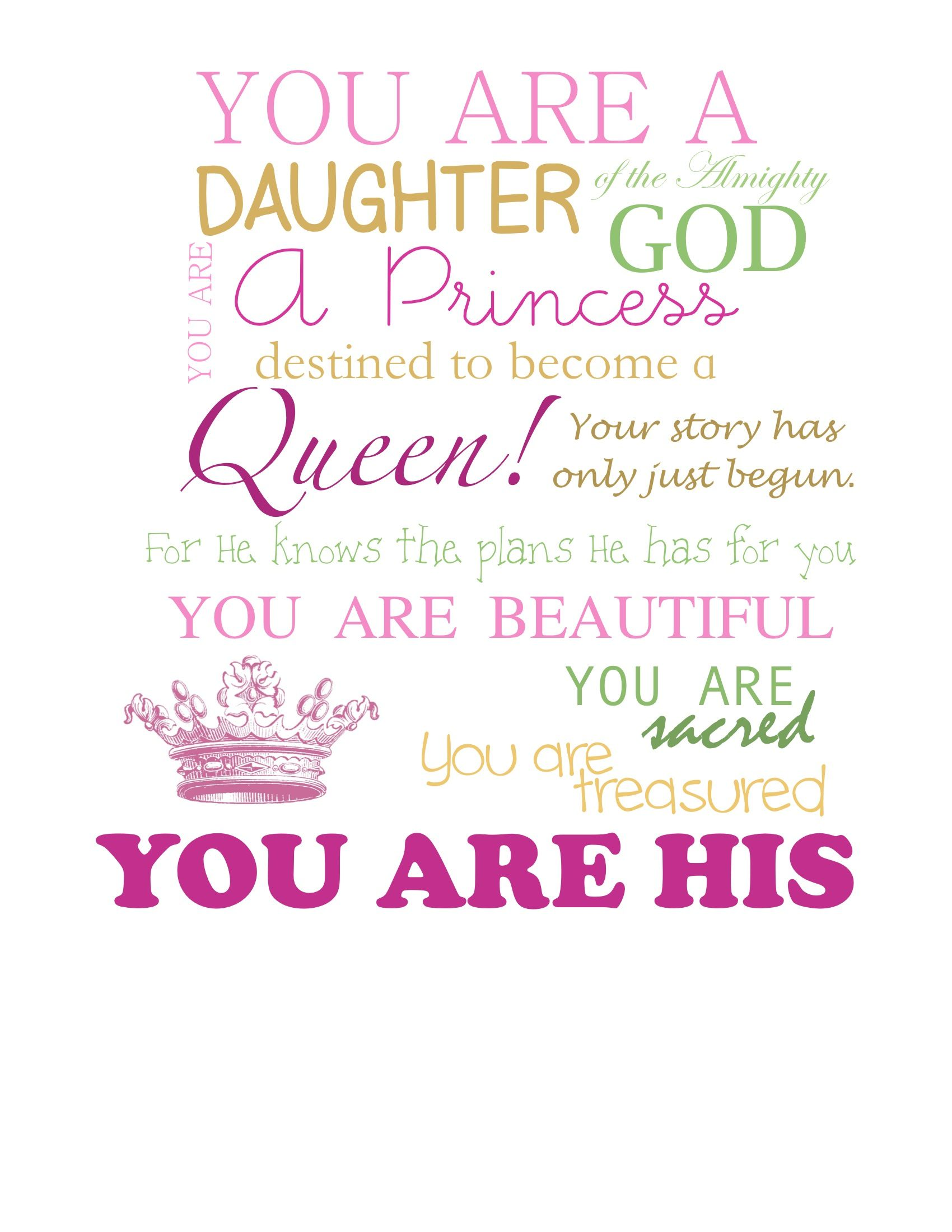 Im Wonderfully Made Thank You Jesus The Daughter Of The King
