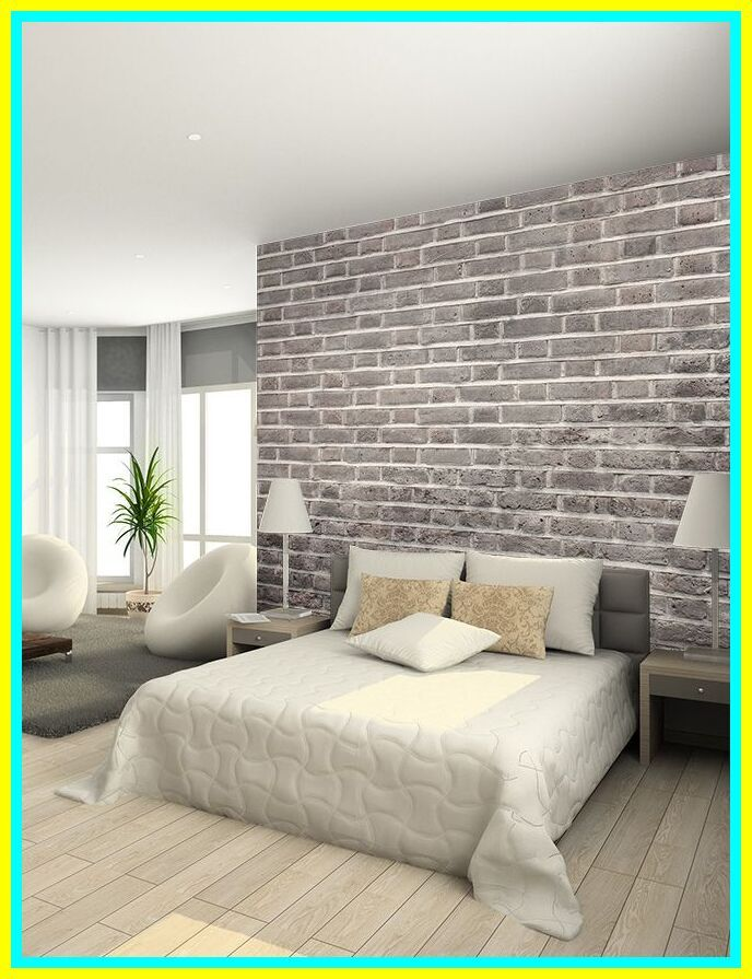 60 reference of brick accent wall master bedroom in 2020