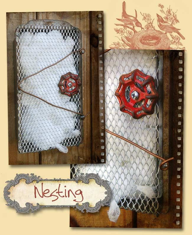 Upcycled Recycled Bird Nesting Material Box