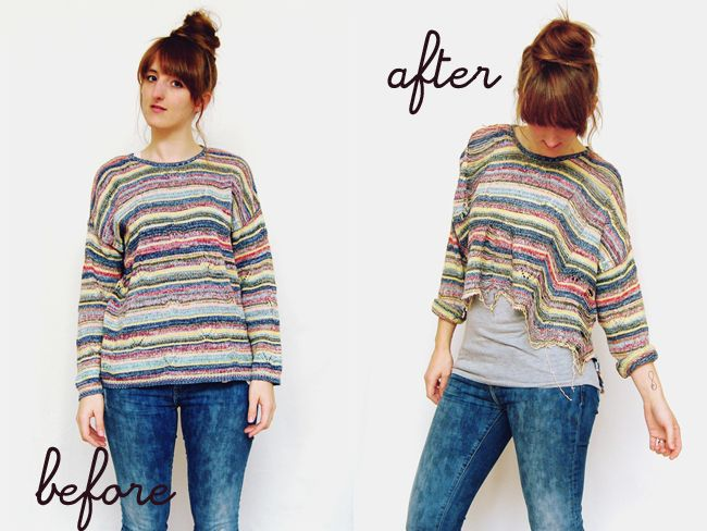 DIY: how to transform a sweater