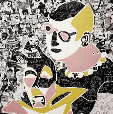 """Saatchi Art Artist Mark Wilkinson; Collage, """"Paper collage 7"""" #art"""