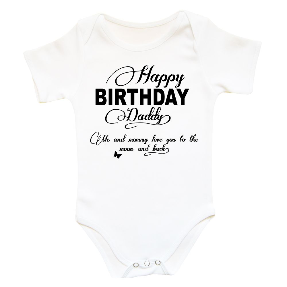 Happy Birthday Daddy Bodysuit Onesie Gift