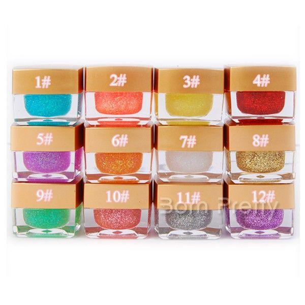 Colored glitter UV gel #'s 1,2,5,8