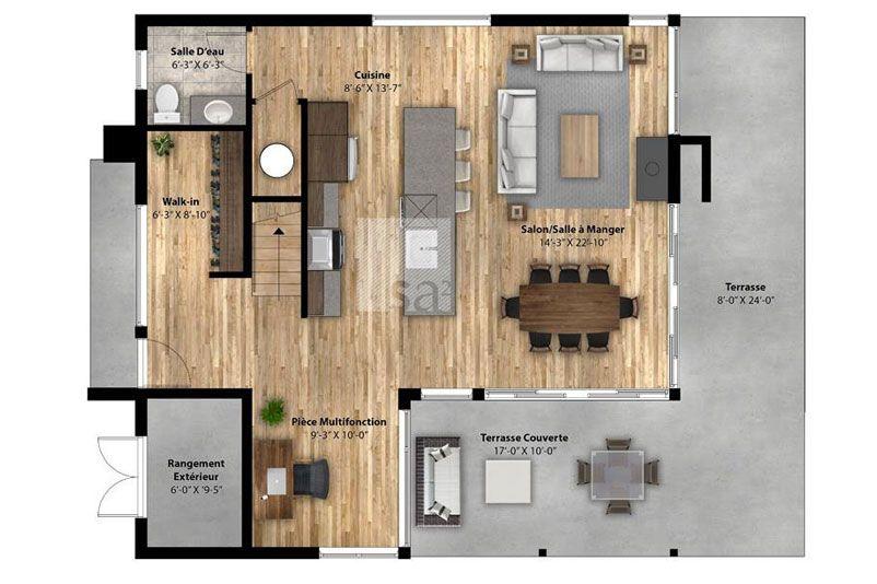 Chalet scandinave pr fabriqu plans pinterest chalet pr fabriqu et plan maison for Petit chalet prefabrique