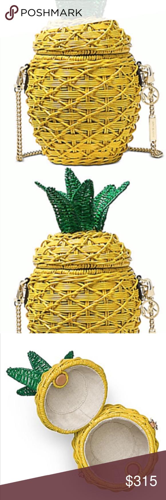 26a0737447fe Michael Kors Straw Pineapple Crossbody Sunflower Michael Kors Straw  Pineapple Crossbody Sunflower A splash of color