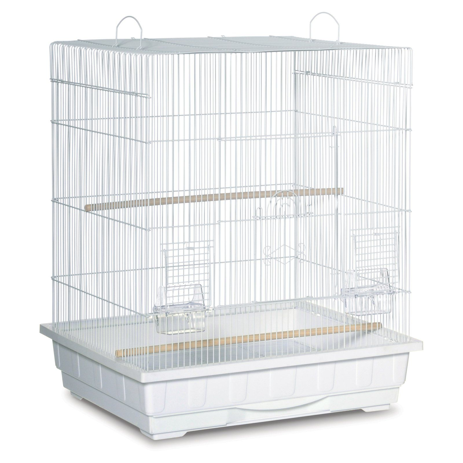 Prevue Pet Products Square Top Cockatiel Cage White | Products in