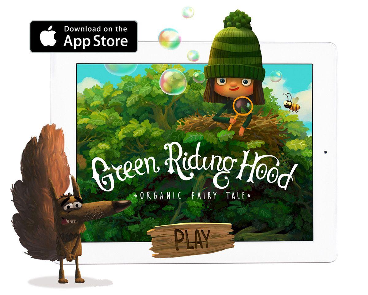 Character Design Ipad App : Green riding hood best ipad app in russia on behance