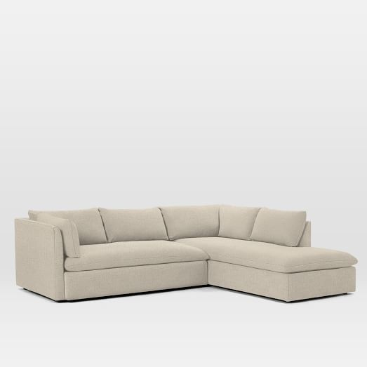 Shelter 2 Piece Terminal Chaise Sectional Sectional Deep Seated Sectional Chaise