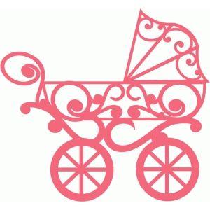 Silhouette Design Store Flourish Baby Buggy Baby Silhouette Silhouette Design Design Store