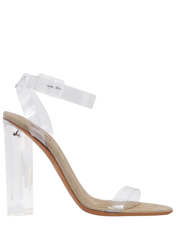 the best attitude 5cb6e 913a9 YEEZY 110MM PLEXI ANKLE STRAP SANDALS.  yeezy  shoes   Sexy Heels,  Transparent