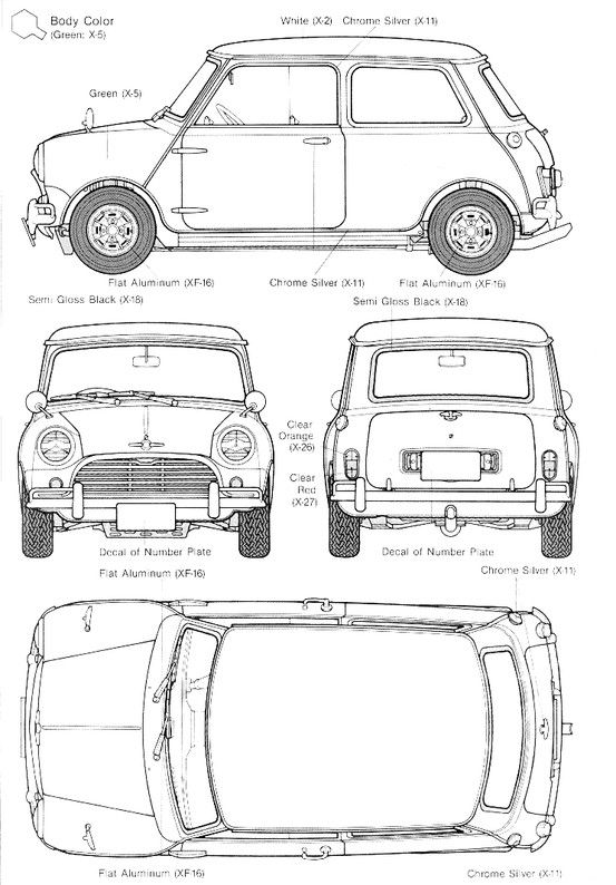 Car blueprint planos coches pinterest mini clsico clasicos y car blueprint malvernweather Gallery