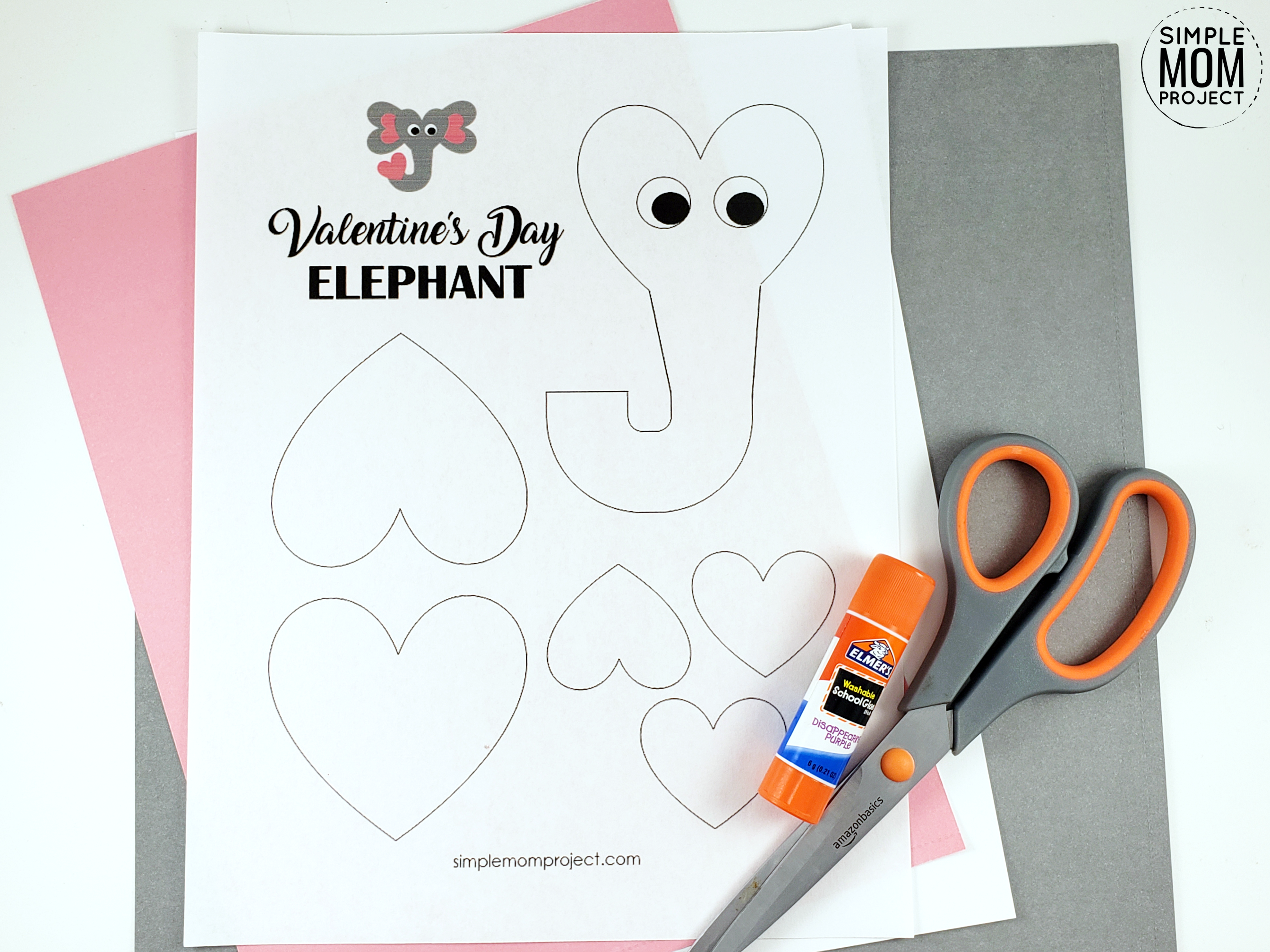 Easy And Cute Valentine S Day Elephant Paper Craft With