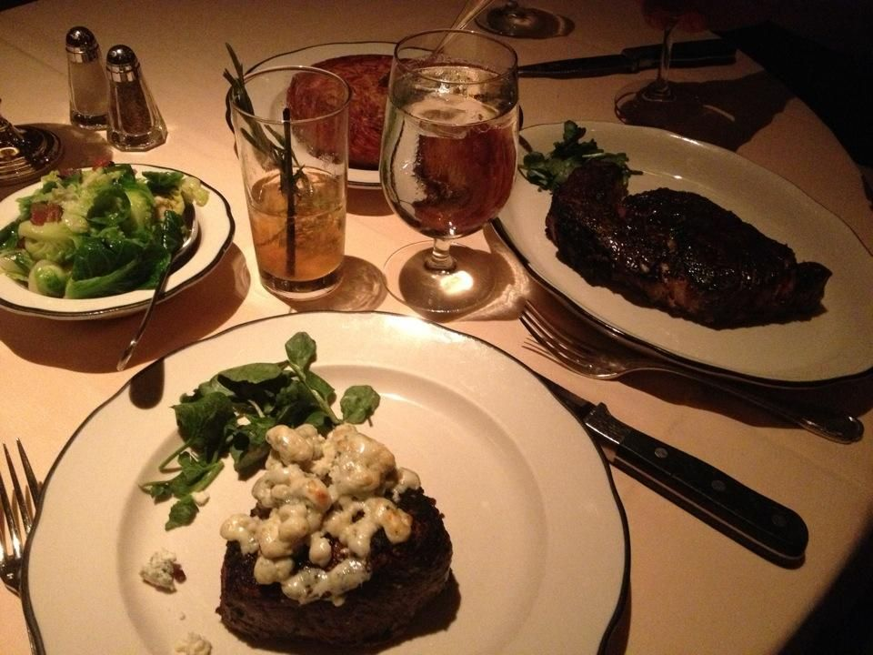 """""""Great steaks, extensive wine list, and top-notch service. My favorite side dish is the hashbrown."""" -Chuck Esposito"""