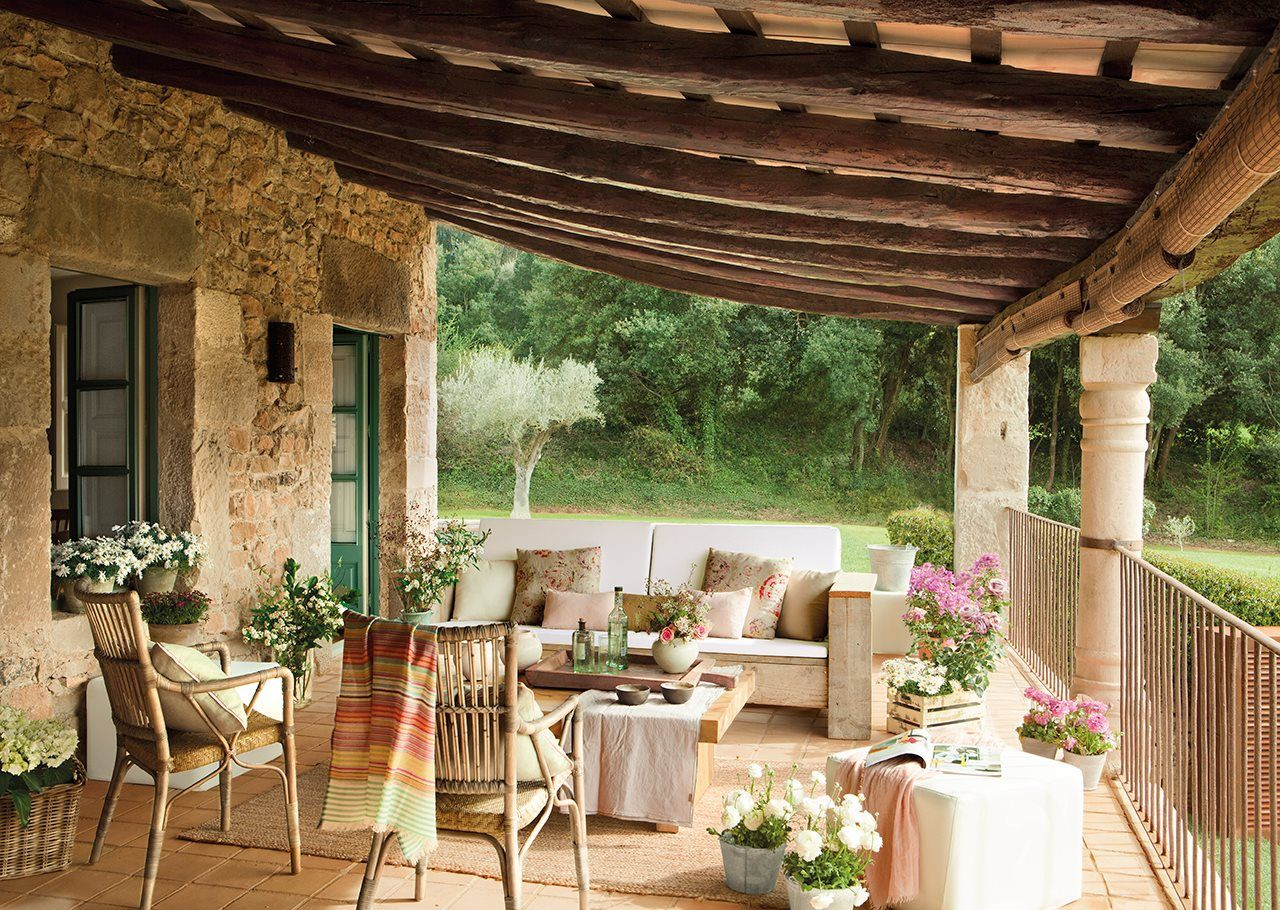 Una mas a de alma joven casas estilo vintage y terrazas for Terrazas de campo