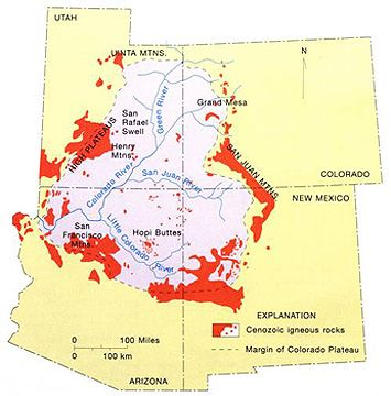 Geographic features in the colorado plateau showing principal rivers geographic features in the colorado plateau showing principal rivers publicscrutiny Images