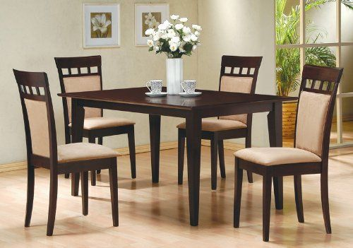 Dining Room Design With Casual Dining Table  Chairs Set