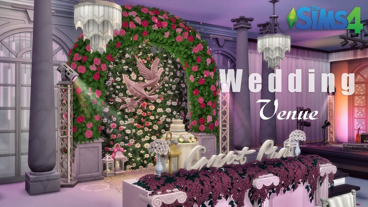 Wedding Venue • Luxury Mansion No CC THE SIMS 4 Sims
